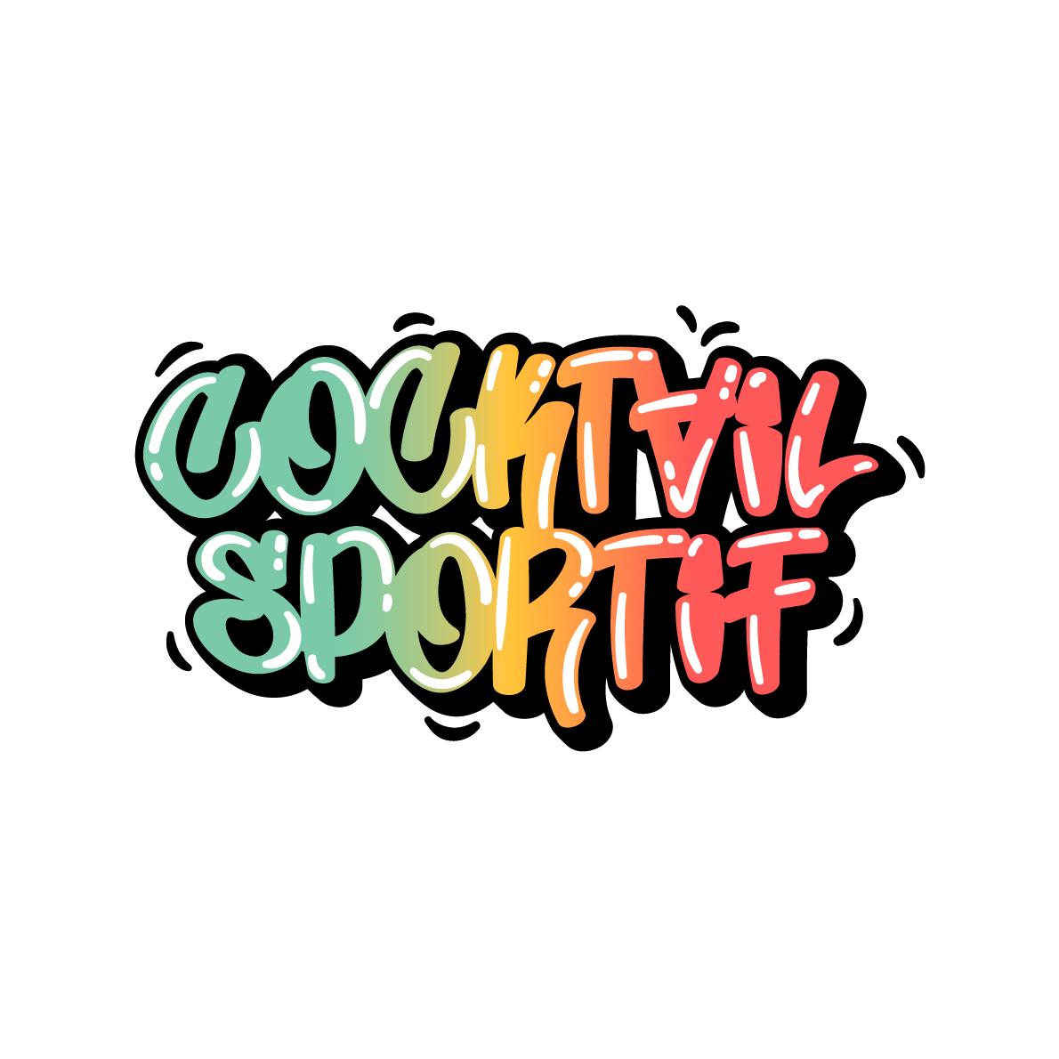 logo cocktail sportif couleurs