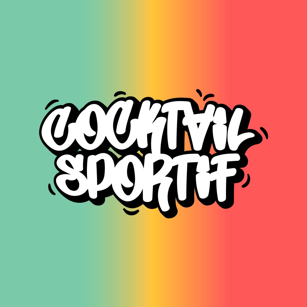 logo cocktail sportif blanc